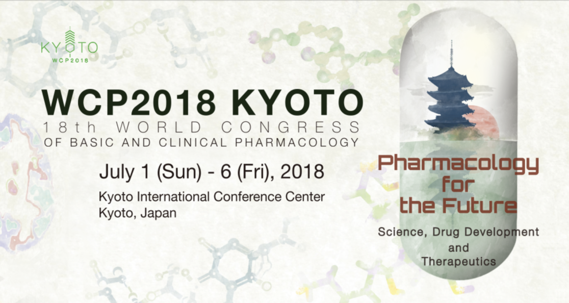 We will present two research papers at the 18th World Congress of Phamacology(WCP), Kyoto, Japan.